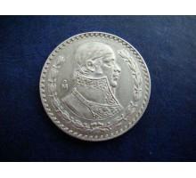 Мексика 1 песо 1957. Серебро