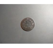 Германия 1/2 марки 1917 A серебро