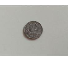 Гватемала 1/4 риала 1897 серебро