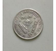ЮАР 3 пенса 1942 серебро