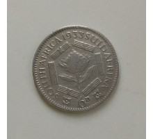 ЮАР 6 пенсов 1933 серебро