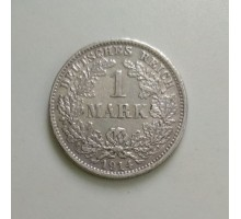Германия 1 марка 1914 D серебро