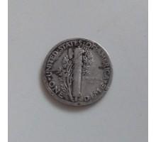США 10 центов 1926 серебро
