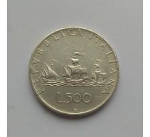 Италия 500 лир 1959 серебро