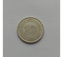 Стрейтс Сеттлементс 10 центов 1927 серебро