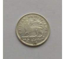 Эфиопия 1 герш 1897-1903 серебро