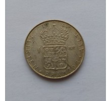 Швеция 1 крона 1964 серебро