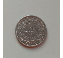 Германия 1/2 марки 1905 J серебро