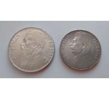 Чехословакия 1949. 70 лет со дня рождения Сталина. Набор 2 монеты серебро