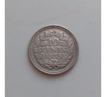 Нидерланды 10 центов 1935 серебро