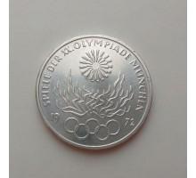 Германия 10 марок 1972. XX летние Олимпийские Игры, Мюнхен 1972 - Факел серебро