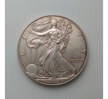 США 1 доллар 2015. Шагающая свобода серебро