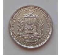 Венесуэла 1 боливар 1960 серебро