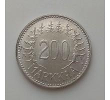 Финляндия 200 марок 1957. Серебро