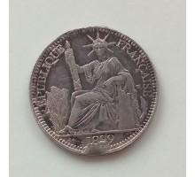 Индокитай 10 сантимов 1899 серебро