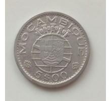 Мозамбик 5 эскудо 1960 серебро