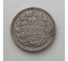 Нидерланды 10 центов 1937. Серебро