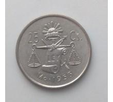 Мексика 25 сентаво 1953 серебро