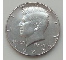США 50 центов 1965. Серебро