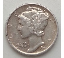 США 10 центов 1941 серебро