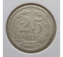 Швеция 25 эре 1883. Серебро