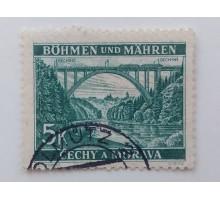 Богемия и Моравия 1940-1941. 5 к. (1032)