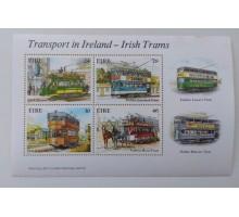 Ирландия блок марок 1987. ЖД-транспорт (Б083)