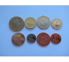 Джерси 1998-2016. Набор 8 монет