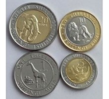 Кения 2018. Набор 4 монеты